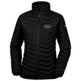 Columbia Powder Lite Ladies Black Jacket-Athletic Mark Hawk Head