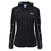 Columbia Ladies Sweet As Black Hooded Jacket-Athletic Mark Hawk Head