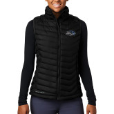 Columbia Lake 22 Ladies Black Vest-Athletic Mark Hawk Head