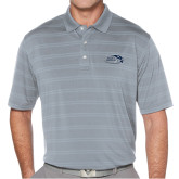 Callaway Horizontal Textured Steel Grey Polo-Athletic Mark Hawk Head