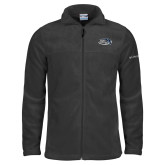 Columbia Full Zip Charcoal Fleece Jacket-Athletic Mark Hawk Head