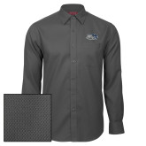 Red House Dark Charcoal Diamond Dobby Long Sleeve Shirt-Athletic Mark Hawk Head