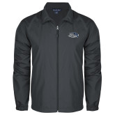 Full Zip Charcoal Wind Jacket-Athletic Mark Hawk Head