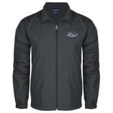 Full Zip Charcoal Wind Jacket-Athletic Mark Hawk Head