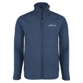 Navy Heather Softshell Jacket-Saint Anselm Mark
