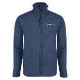 Navy Heather Softshell Jacket-Saint Anselm Mark