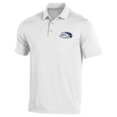 Under Armour White Performance Polo-Athletic Mark Hawk Head