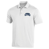 Under Armour White Performance Polo-Saint Anselm Mark