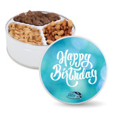 Deluxe Mix Happy Birthday Tin-Athletic Mark Hawk Head