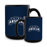 Full Color Black Mug 15oz-Saint Anselm Mark