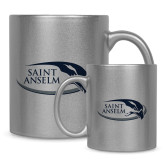Full Color Silver Metallic Mug 11oz-Athletic Mark Hawk Head