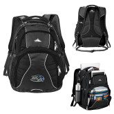 High Sierra Swerve Black Compu Backpack-Athletic Mark Hawk Head