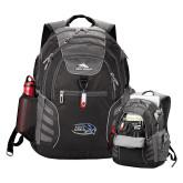 High Sierra Big Wig Black Compu Backpack-Athletic Mark Hawk Head
