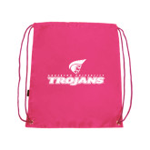 Pink Drawstring Backpack-Official Logo