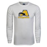 White Long Sleeve T Shirt-A w/ Trojans