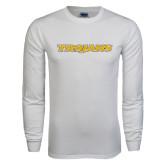 White Long Sleeve T Shirt-Trojans