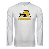 Syntrel Performance White Longsleeve Shirt-A w/ Trojans