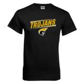 Black T Shirt-Trojans Design