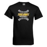 Black T Shirt-Baseball Sideway Seams