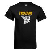 Black T Shirt-Basketball Hanging Net