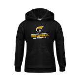 Youth Black Fleece Hoodie-Volleyball Can You Dig it
