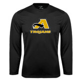 Performance Black Longsleeve Shirt-A w/ Trojans