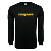 Black Long Sleeve TShirt-Trojans