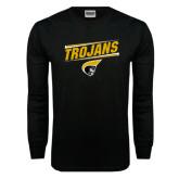 Black Long Sleeve TShirt-Trojans Design