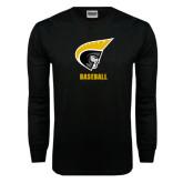 Black Long Sleeve TShirt-Baseball