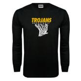 Black Long Sleeve TShirt-Basketball Hanging Net