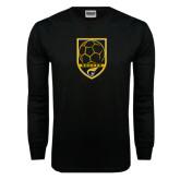 Black Long Sleeve TShirt-Soccer Shield