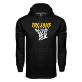 Under Armour Black Performance Sweats Team Hoodie-Basketball Hanging Net