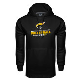 Under Armour Black Performance Sweats Team Hoodie-Volleyball Can You Dig it