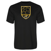 Syntrel Performance Black Tee-Soccer Shield
