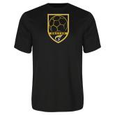 Performance Black Tee-Soccer Shield