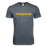 Next Level SoftStyle Charcoal T Shirt-Trojans