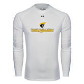Under Armour White Long Sleeve Tech Tee-Official Logo