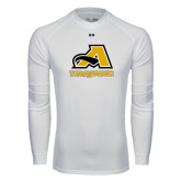 Under Armour White Long Sleeve Tech Tee-A w/ Trojans