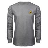Grey Long Sleeve T Shirt-A w/ Trojans