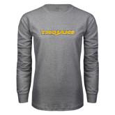 Grey Long Sleeve T Shirt-Trojans