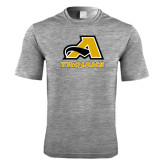 Performance Grey Heather Contender Tee-A w/ Trojans