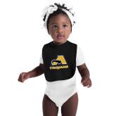 Black Baby Bib-A w/ Trojans
