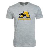 Next Level SoftStyle Heather Grey T Shirt-A w/ Trojans