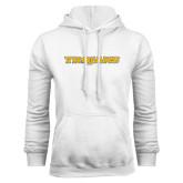 White Fleece Hoodie-Trojans