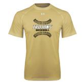 Under Armour Vegas Gold Tech Tee-Baseball Sideway Seams