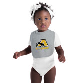 Grey Baby Bib-A w/ Trojans