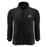 Fleece Full Zip Black Jacket-A w/ Trojans