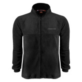 Fleece Full Zip Black Jacket-Trojans