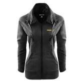 Ladies Sport Wick Stretch Full Zip Black Jacket-Trojans