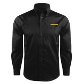 Red House Black Herringbone Long Sleeve Shirt-Trojans